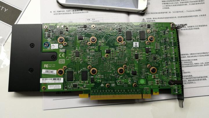 丽台(LEADTEK)NVS810 4GB DDR3/128-bit/28.8GB/s CUDA核心1024/ 8屏拼接/专业显卡/多屏卡 晒单图