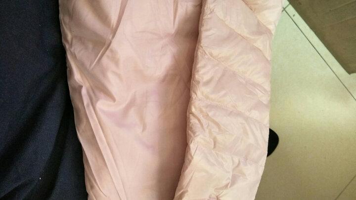 迪士尼(DISNEY) 冬季男女童羽绒裤宝宝纯色轻羽绒长裤保暖儿童裤子 浅粉 120 晒单图