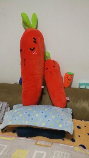 【买大送小】伊美娃娃 卡通胡萝卜公仔睡觉大长条抱枕靠枕蔬菜毛绒玩具送女友 呲牙 70厘米 晒单图