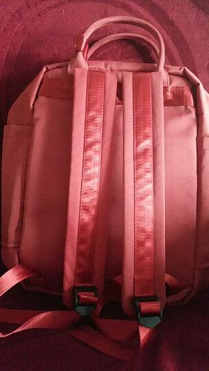 Miffy米菲学院风尼龙帆布双肩包女韩版休闲背包春夏新款长颈鹿系列休闲书包 MF0604-01酒红色 晒单图