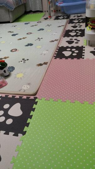 明德Meitoku 波点拼图地垫 PE泡沫地垫 宝宝爬行垫 粉色泡沫地 防潮儿童拼接地垫 60*60*1cm(4片装) 晒单图