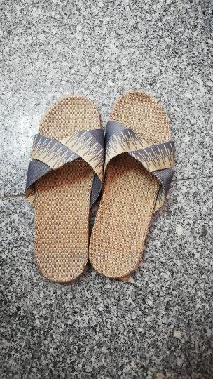 米奇菱拖鞋夏女男士地板拖 家居室内亚麻女士凉拖鞋1045 1025烟灰色男 27cm(40/41) 晒单图