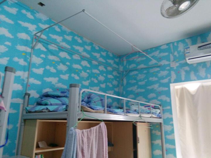 虹语荷 自粘墙纸 带胶壁纸 防水欧式田园风儿童卧室客厅餐厅书房背景墙贴碎花胶面 蓝天白云 0.45*5米 晒单图