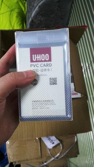 优和(UHOO)软质PVC证件卡套竖式 展会厂牌工作证件公交保护套透明工牌出入证48个/盒 6662 晒单图