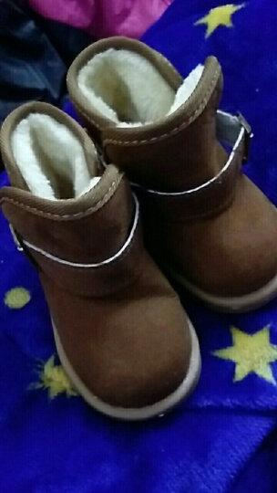 LOVEBBF 2017冬季新款 婴儿学步鞋 宝宝加绒雪地靴 新生儿0-1-3岁保暖棉鞋 X25蓝色 适合脚长14cm左右 晒单图
