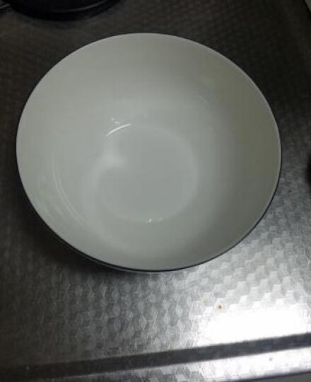 树镇(SHUZHEN) 出口北欧家用陶瓷餐具饭碗菜盘鱼盘平盘简约黑边黑线餐具碗碟盘子 咖啡杯碟 晒单图