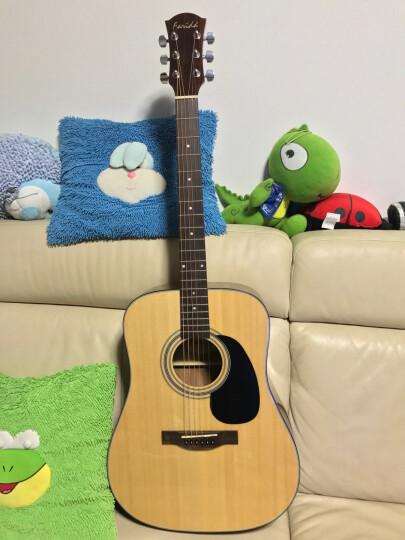 法丽达(Farida) D10/R10系列 单板民谣木吉他弹唱指弹 云杉木D-10L左手用琴单板41寸 晒单图