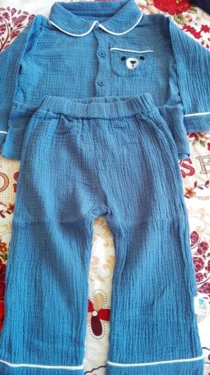 【99元3件】齐齐熊 春装新款婴儿衣服卡通小熊刺绣开衫内衣套装宝宝纱布睡衣两件套 蓝色 80cm建议身高76-82cm 晒单图