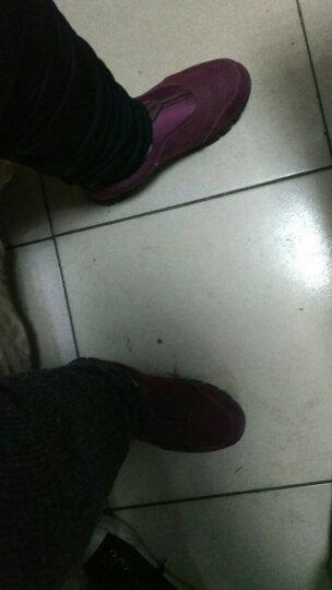 卡地玛丽老人鞋防滑软底中老年健步鞋套脚防滑爸爸妈妈鞋运动休闲男女鞋 M28 枣红/女款 39 晒单图