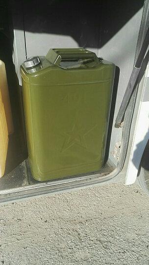 佳固 加厚铁汽油桶30升20升10升5L便携备用油箱摩托汽车大小带油管 精品方油桶40L(带管+2手套) 晒单图