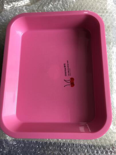 茶花茶具长方形托盘茶盘水杯托盘餐盘水果盘塑料茶盘 粉红色 晒单图