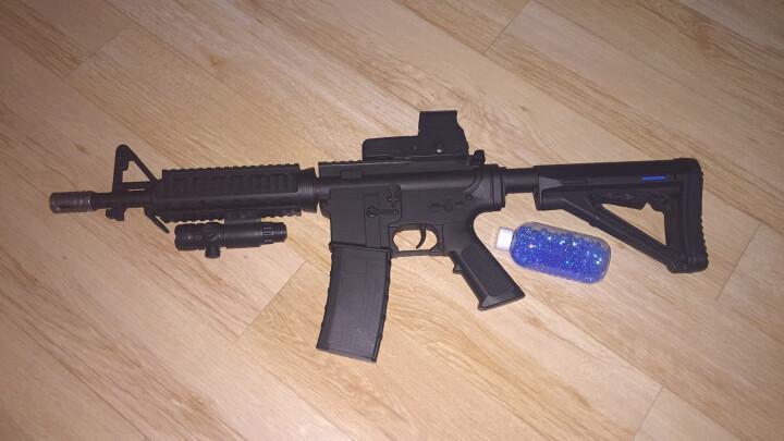 【送3级头盔】AWM儿童玩具枪绝地求生吃鸡98k水晶弹玩具枪 可发射水蛋手动m24阻击枪男孩礼物 迷彩胶带 晒单图