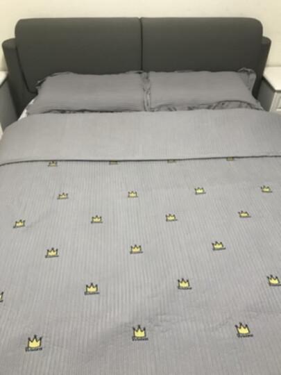 猫人家纺 夏被三件套 水洗棉床盖三件套床单单件 床罩绗缝单双人床垫罩 空调夏凉被子单人 小雏菊-邮绿 200X230cm 晒单图