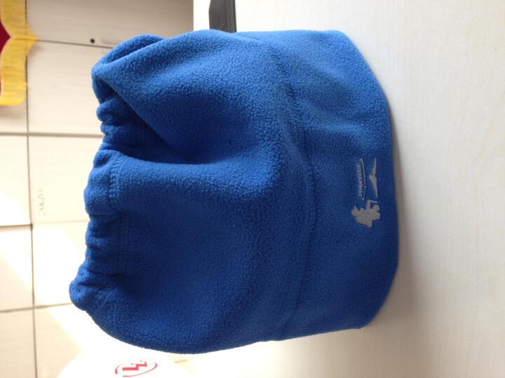 户外抓绒帽保暖帽子多功能男女冬季防寒护脖防风运动头套围脖 灰色 均码 晒单图