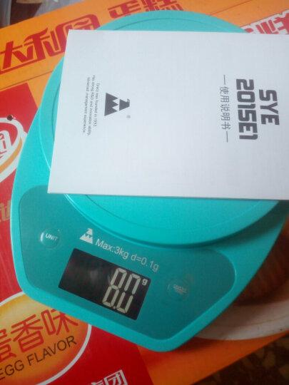 山鹰  SYE-602 电子厨房秤电子称烘培秤1g克料理秤食物秤 (墨铂黑) 晒单图