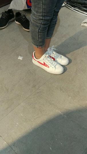 回力经典WB-1帆布鞋休闲鞋运动鞋情侣鞋篮球鞋男女舒适帆布鞋 黑绿 39-偏大一码 晒单图