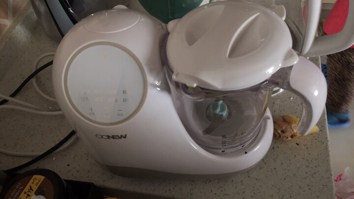 喔喔牛(oh snail) 婴儿童宝宝辅食机料理机电动智能调理蒸制搅拌一体机食物研磨器 新款升级智能触摸屏版 晒单图