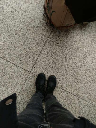 犀牛皮卡男靴冬季加绒保暖棉鞋潮骑士马丁复古高帮皮靴男工装雪地靴子男 黑色加棉9928 43(皮鞋码) 晒单图