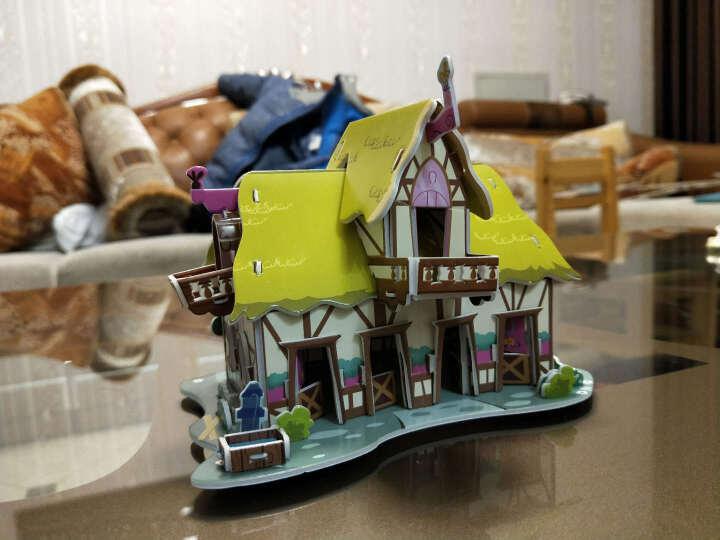 3D立体拼图纸模型儿童玩具 儿童玩具益智DIY手工制作 亲子DIY种植农场 儿童拼图种植园 幸福套房 晒单图