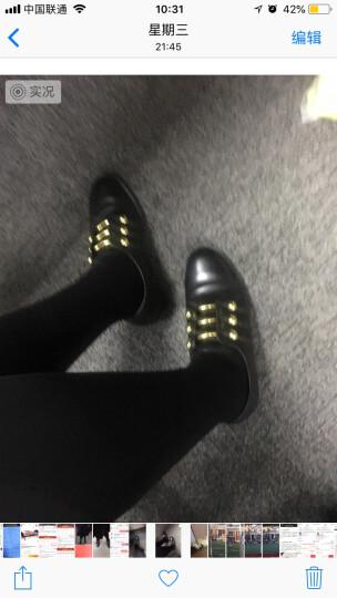 Nine West/玖熙秋冬新款平跟布洛克单鞋 英伦风皮鞋 单鞋女 黑色 5 晒单图