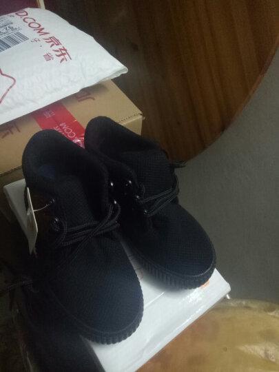 蜡笔小新高帮儿童靴子女童靴子儿童棉鞋系带女童雪地靴小红鞋男童棉鞋Z-521大红34 晒单图