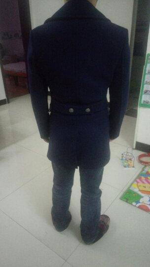 vanuucci男士羊毛呢大衣中长款双排扣加厚款青年呢子大衣冬季韩版妮子外套风衣 83555卡其色 L/(125-142斤) 晒单图