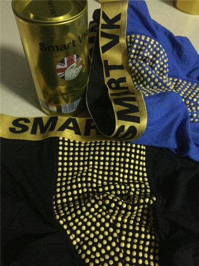 Smart VK英国卫裤【加强版3条】透气男士内裤男能量第十代健康男平角裤 黑红蓝各1条 XL(175/100) 晒单图