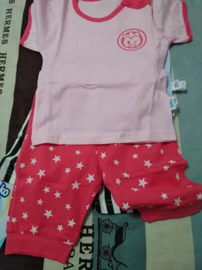 南极人(Nanjiren) 南极人宝宝2018夏季纯棉短袖套装婴儿全棉夏天衣服新款儿童童装 加减字母-白色 90CM 晒单图