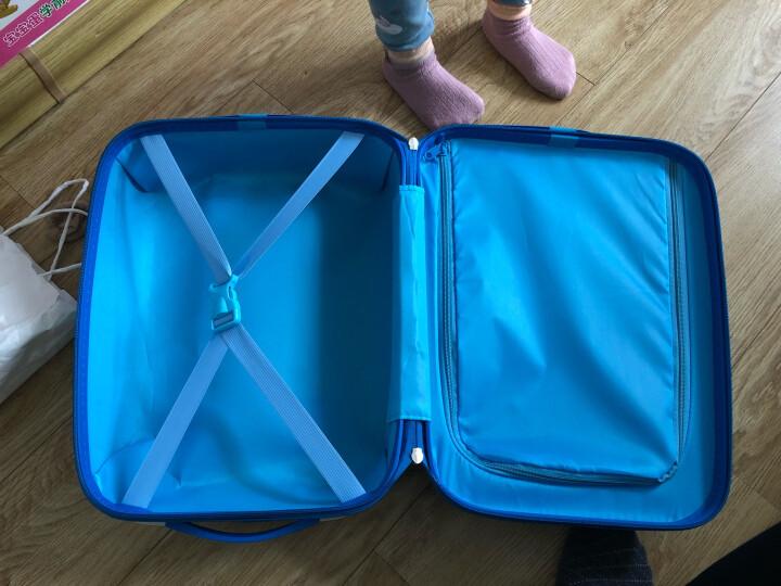 KAIPULISI小学生儿童拉杆箱18寸卡通动漫登机箱17寸行李箱男女小孩万向轮旅行箱 滑板车佩琪乔治 17英寸1件(单拉杆蛋型) 晒单图