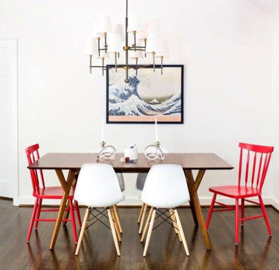 百思宜 电脑椅伊姆斯休闲椅咖啡餐饮椅 简约办公椅子电脑椅洽谈椅 亚光咖啡(加厚椅面) 晒单图