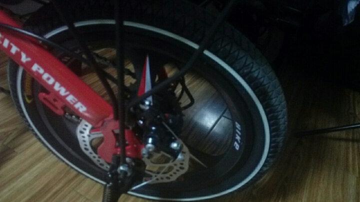 名舰(MINGJIAN) 成人折叠式自行车14寸16寸20寸变速碟刹小轮单车男女学生代驾迷你轻便减震 16寸绿色辐条轮变速碟刹 赠送礼包 晒单图