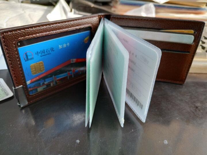 耐捷驾驶证套 行驶证套商务卡套卡包 男士驾照夹 生日礼物 男女通用 黑色 晒单图