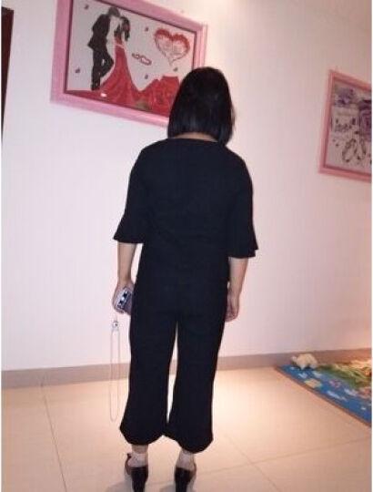 贝托芬胖妹妹秋装加肥加大码女装秋款套装胖mm2019韩版胖人女装显瘦款休闲宽松气质减龄两件套 黑色 3XL 晒单图