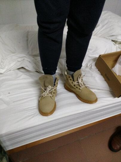 秋冬季马丁靴男靴子英伦风皮靴男士短筒潮流高帮工装靴保暖加绒棉鞋短靴军靴男鞋 黑色 中帮单鞋款 43 晒单图