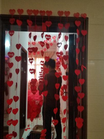 青苇 婚房装饰布置 结婚用品喜字拉花10条 门帘10条 花球1个 玫瑰花瓣360片 晒单图