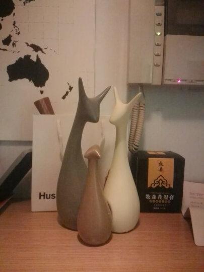 恒瓷美 北欧现代家居创意陶瓷装饰品摆件大号客厅动物饰品装饰品酒柜摆设 依恋象(雅光) 晒单图