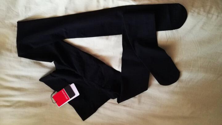 法国皮尔卡丹打底裤袜380D苹果臀无缝无痕压力袜连裤袜丝袜女 黑色 九分裤 晒单图