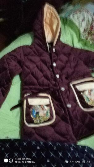 特丝格斯 加厚睡衣女冬季珊瑚绒套装保暖棉衣水晶绒加大码法兰绒家居服 米奇色 女-L(三层加厚夹棉) 晒单图