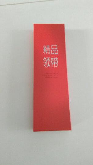 英巴克领带男正装商务韩版新郎结婚上班应聘职业窄领带礼盒 粉色领带0322-8 晒单图