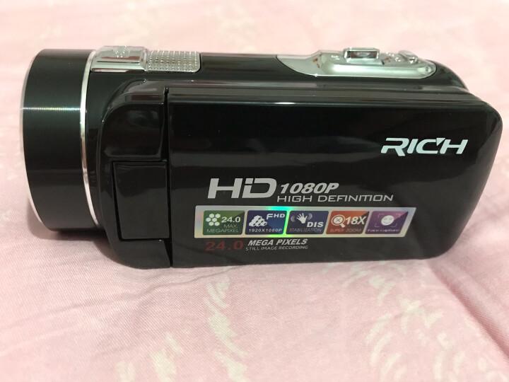 莱彩(Rich)HD-913数码摄像机DV家用遥控录像摄影机照相机旅游专业2400W像素 官方标配+广角镜头+增距镜头 套餐四 晒单图