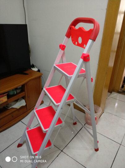 密林 家用梯 折叠梯 梯子 人字梯 梯 四步梯多功能置物架防滑梯ML_BTM04 四步梯 晒单图