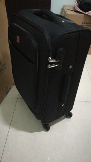 瑞士军刀威戈Wenger 20/24英寸拉杆箱 旅行箱行李箱登机箱 万向轮软箱 出差男女士 新品银色【22英寸】 晒单图