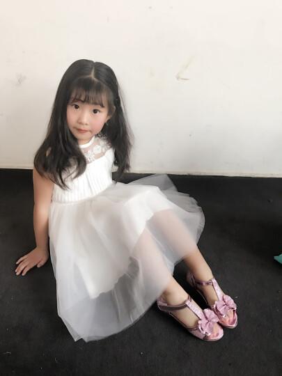 桃涩 女童凉鞋夏季新款韩版童鞋公主鞋女大童儿童凉鞋女 TS-G1537 金色 35码/22cm 晒单图