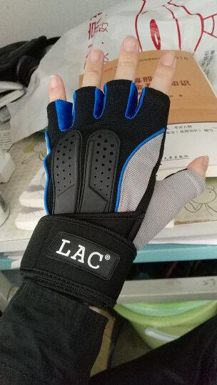 LAC 健身手套男士运动手套 女健身房哑铃器械训练半指护腕透气防滑骑行手套 蓝色M码 晒单图