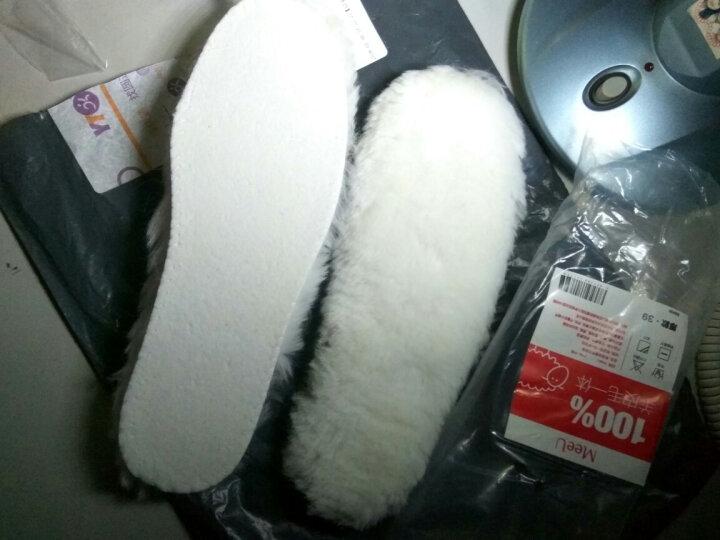 MeeU羊毛鞋垫皮毛一体 加绒棉鞋垫女冬季加厚保暖鞋垫男吸汗防臭 厚款【毛长2.3~2.5cm】B00A 37 晒单图