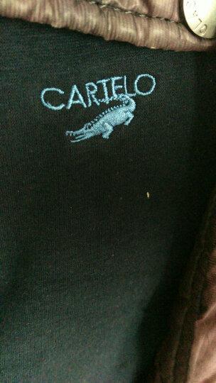 卡帝乐鳄鱼冬季加厚加绒保暖上衣 V领修身保暖背心 低领马夹坎肩男士保暖马夹 深灰色 XL(175/100) 晒单图