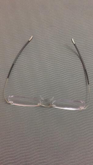 Silhouette 诗乐 男款枪色无框光学眼镜架眼镜框 7579 62 6061 53MM 晒单图