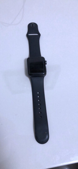 【官方AppleCare+版】Apple Watch Series 3智能手表(GPS款 42毫米 深空灰色铝金属表壳 黑色运动型表带) 晒单图