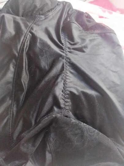 莱孚女士连体塑身衣无痕加强版产后收腹提臀带文胸束身衣夏季薄款透气紧身瘦身衣平角裤 黑色+肤色(2条) XL(105-120斤) 晒单图