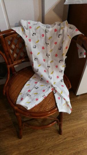 绿色蔓延 婴儿衣服男女宝宝哈衣新生儿空调服夏季薄款长袖连体睡衣纯棉纱布双层0-2岁 小西瓜 73m 晒单图